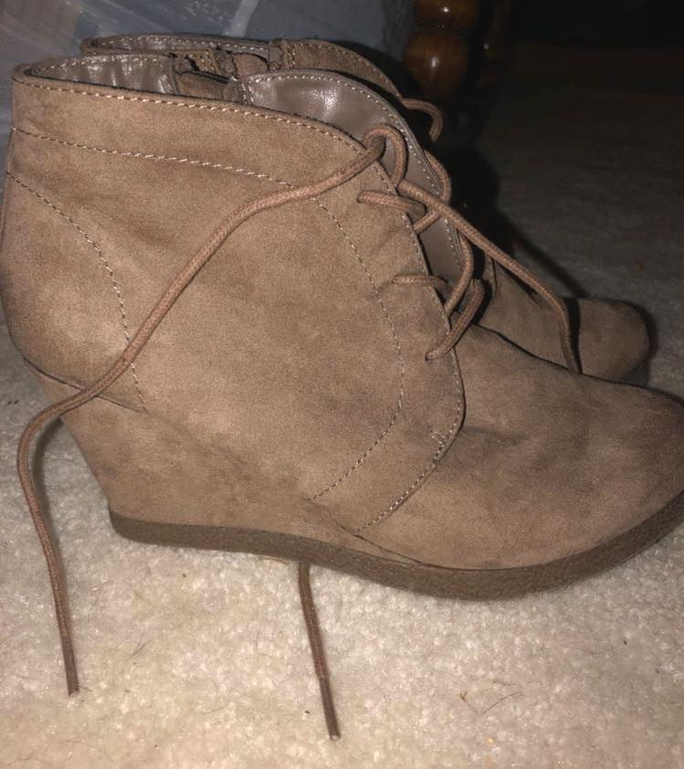 Merona suede wedges