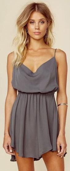 Indah Tahani Dress in Grey