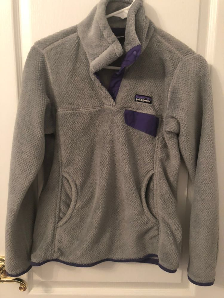 Patagonia Grey and Purple Pullover