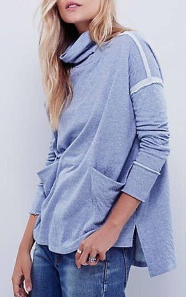 Free People Long Flight Pullover