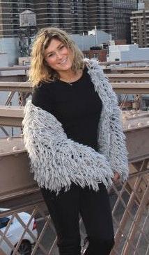 Grey Fuzzy Knit Jacket / Cardigan