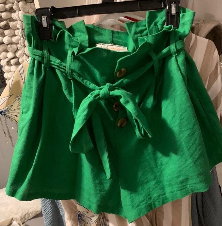 Lizard Thicket Green High Waisted Shorts
