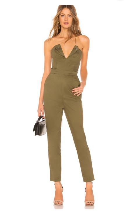 About Us Olive Green Jumpsuit
