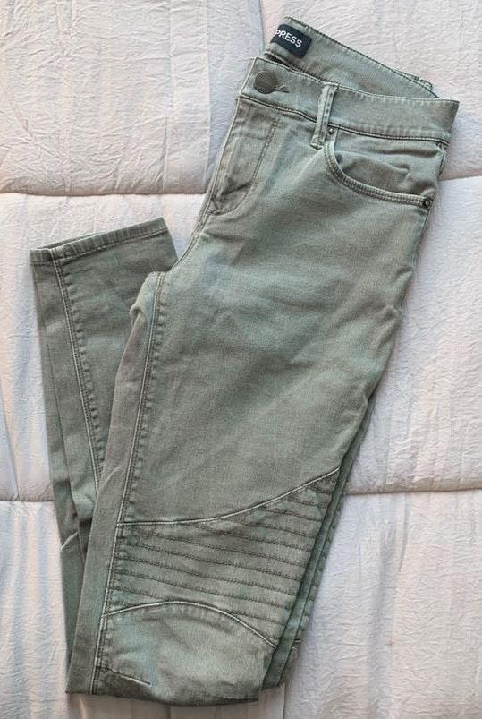EXPRESS Olive Jeans