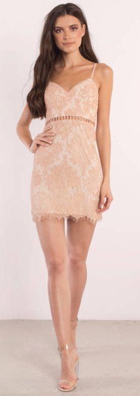 Tobi  After Dark Rose Lace Body on Dress