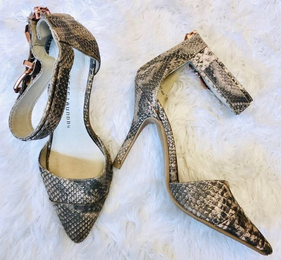 Chinese Laundry Solitare Snake Print d'Orsay Pump