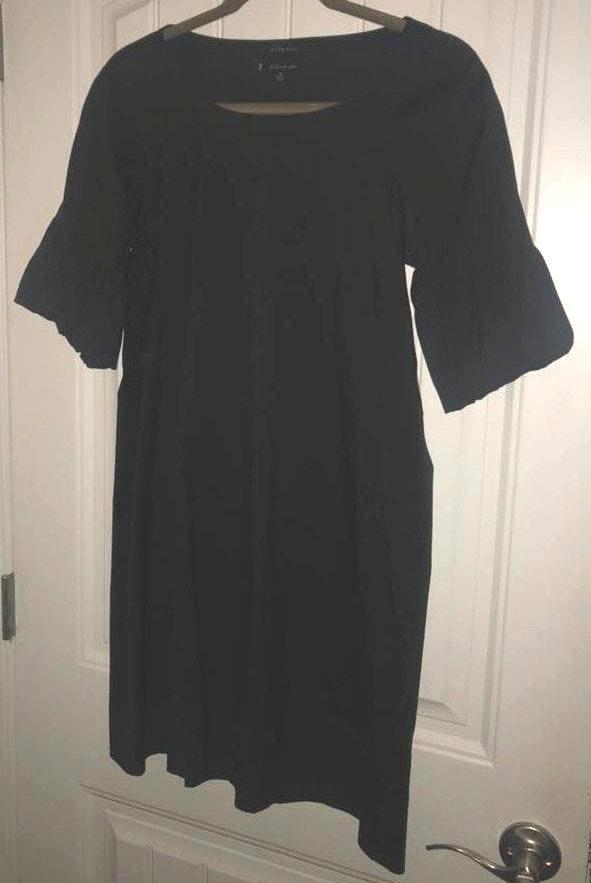 Anne Klein Black Dress With Poof Sleeves