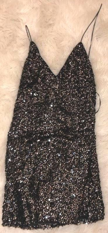 Lulus Black Sequin Dress