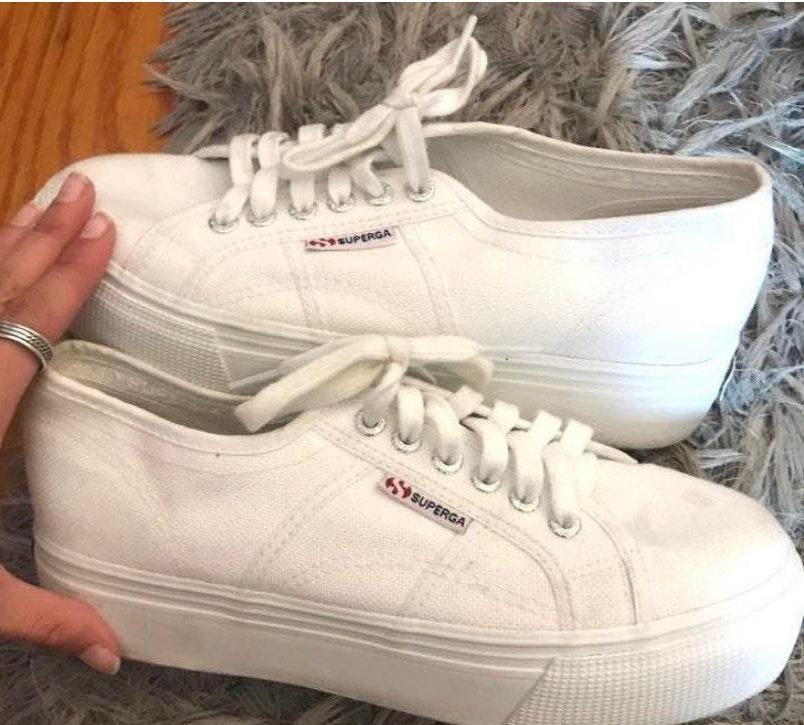 Superga White Platform sneakers
