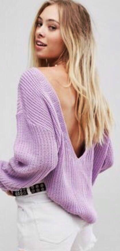 ASOS Purple Low-Back Sweater
