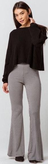 Ivy & Main Geo Print Flare Pants