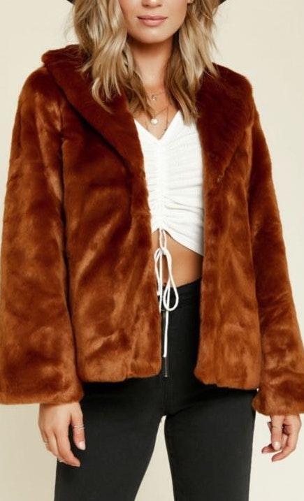 Amuse Society Fur Ever Mine Faux Fur Coat