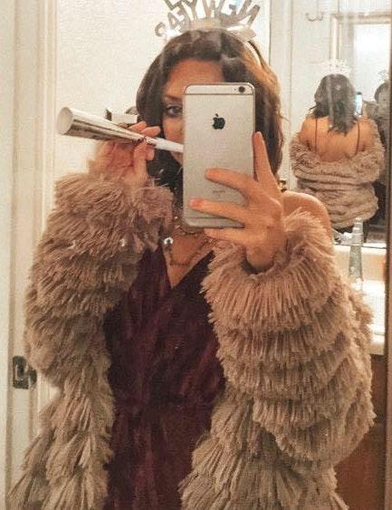 Faux Fur Pink Coat