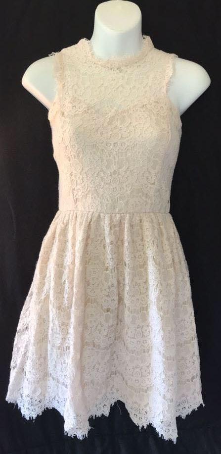 Xhileration Ivory Lace Dress