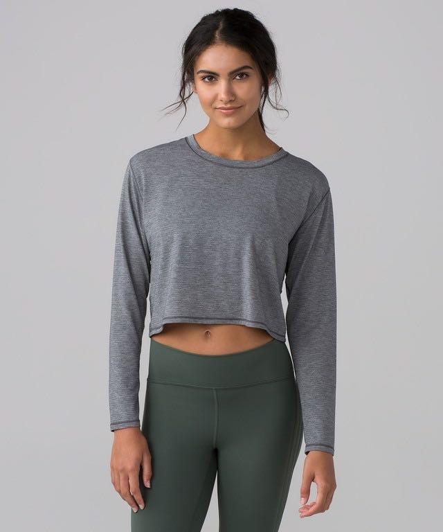 Lululemon Pushing Limits Long Sleeve Crop Top
