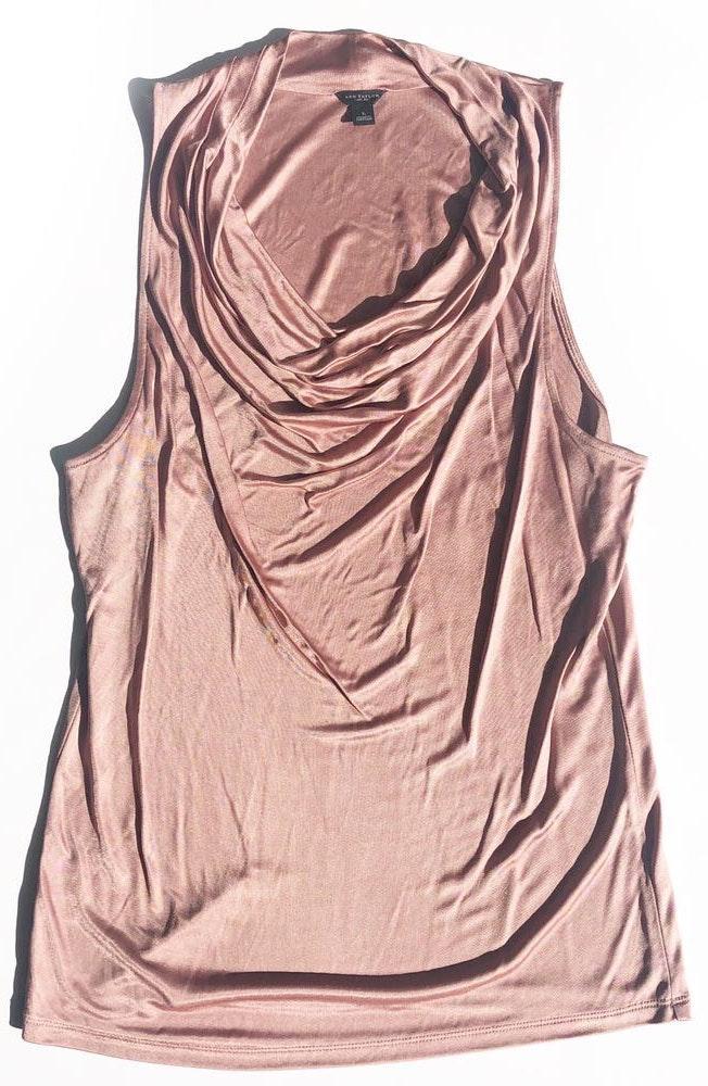Ann Taylor Cowl Neck Knit Sleeveless Blouse