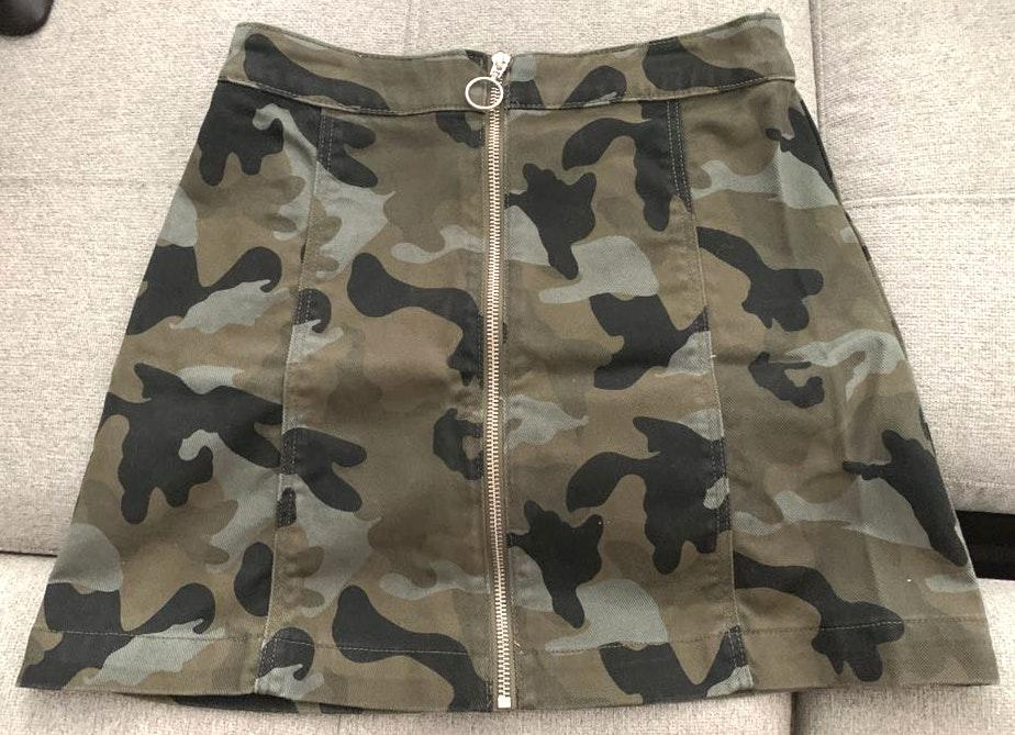 Divided Camo Denim Skirt from H&M