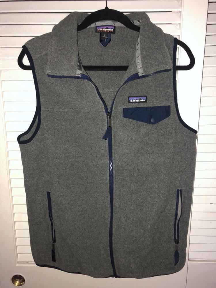 Patagonia Grey & Blue Mens Vest