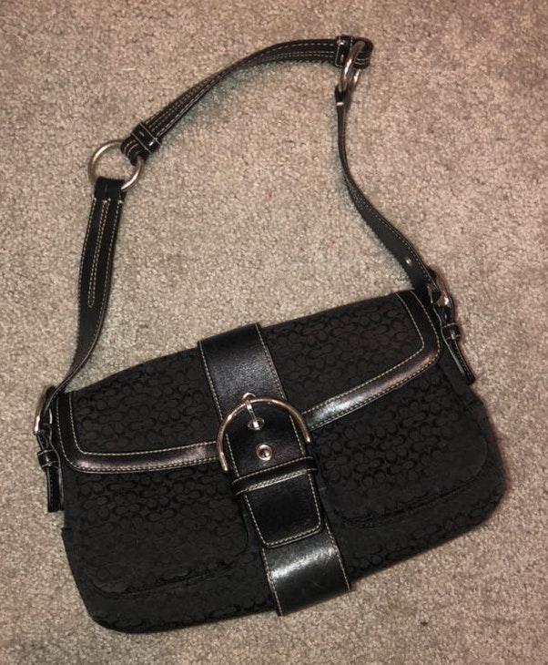 Coach Black and Silver  Handbag/purse