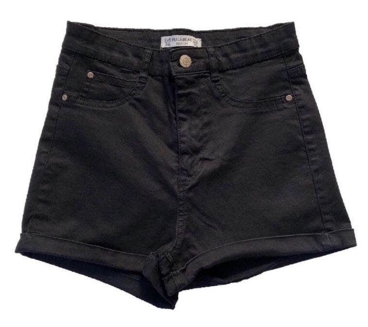 Pull & Bear Black Shorts