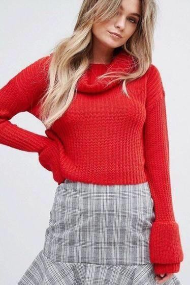 ASOS Misguided Red Sweater