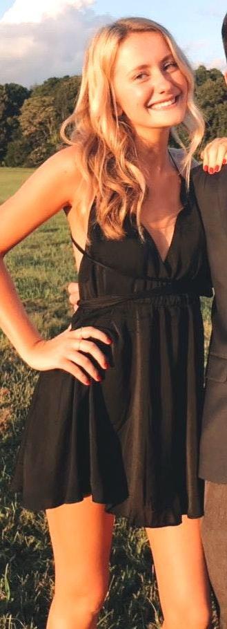 Tobi Black Wrap Tie Dress