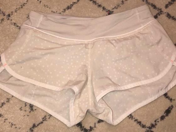 Lululemon Cream Dotted Shorts