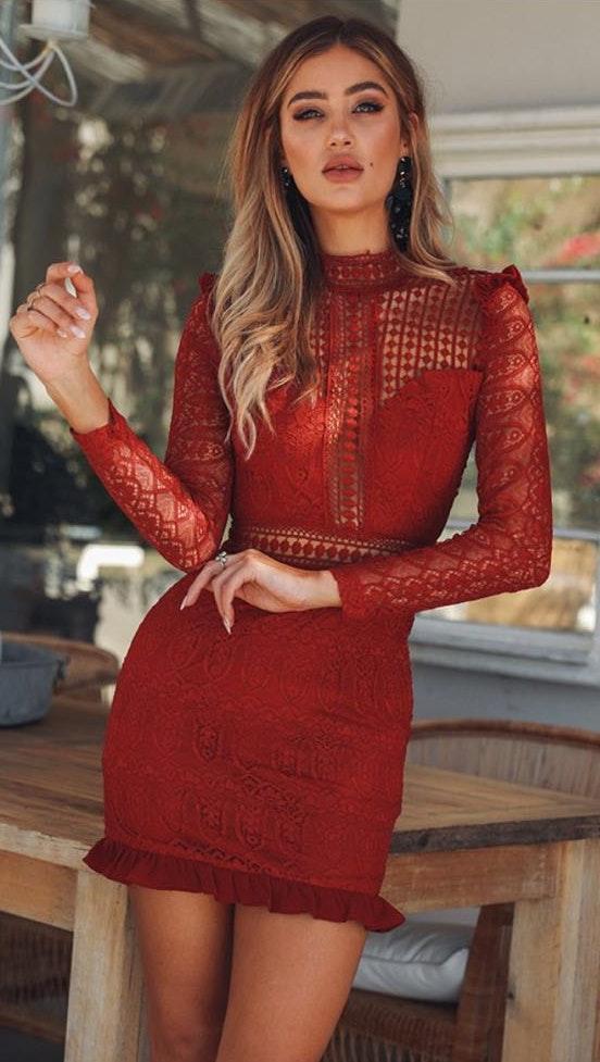 Hello Molly Red Mini Dress