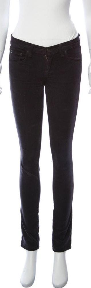 Rag & Bone Black  corduroy skinny Jean XS