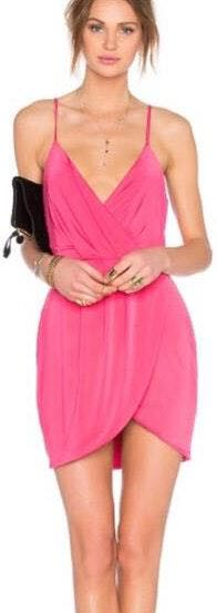 Lovers + Friends pink muse dress