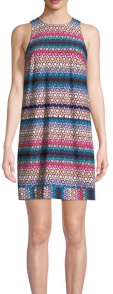 NWT Trina Turk Lattice Print Swing Dress