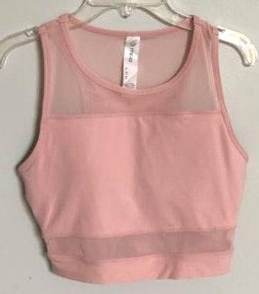 Pink Athletic Crop Top