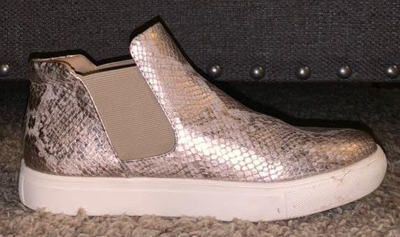 Snakeskin Metallic Sneakers
