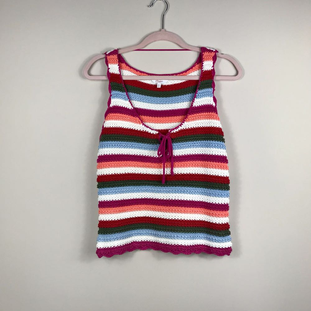 Candie's Multi Colored Knitted Tank Top