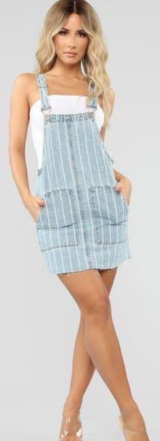 Fashion Nova Overall Dress