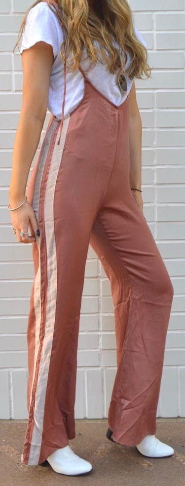 Wild Honey Low Rise Side Stripe Jumpsuit