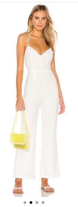 Revolve white jumpsuit