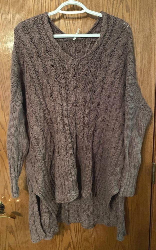 Free People Brown Long Sleeve  Sweater