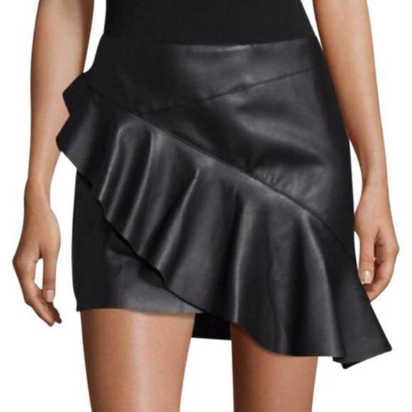 Design lab Black Leather Skirt