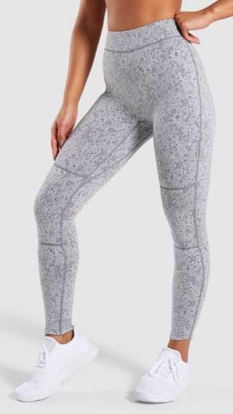 Gymshark Grey Fleur Texture Leggings