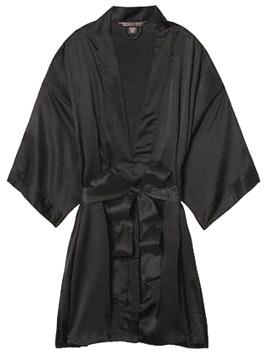 Victoria's Secret Black Silk Robe