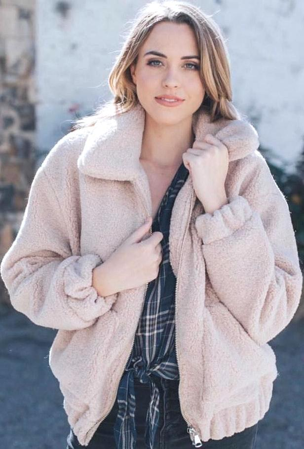 PaperMoon Sherpa Teddy Jacket, Cream