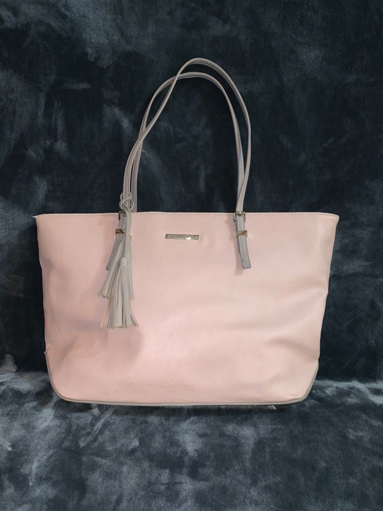 Nine West Rose Gold/ Pink Faux Leather Purse