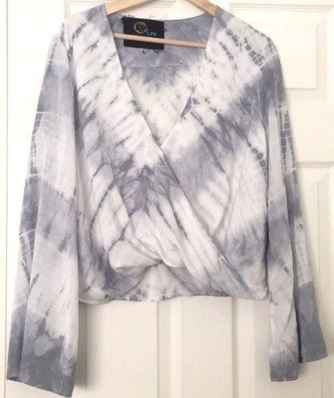 Blue Life bell sleeve top
