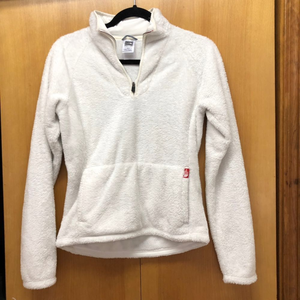 The North Face Off White Half Zip Fleece Pullover