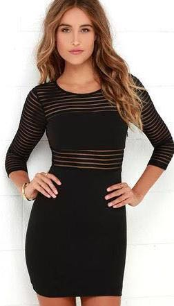 Lulus Mesh Black Dress