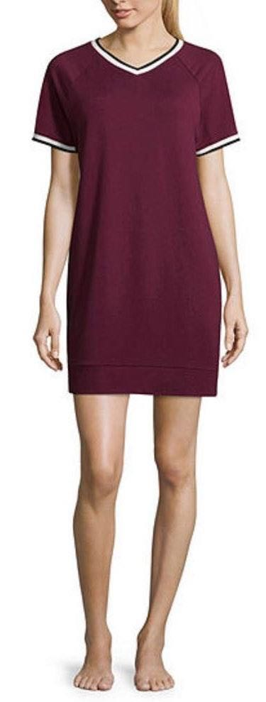 flirtitude NWT  Active Deep Ruby V-Neck Dress..Size S