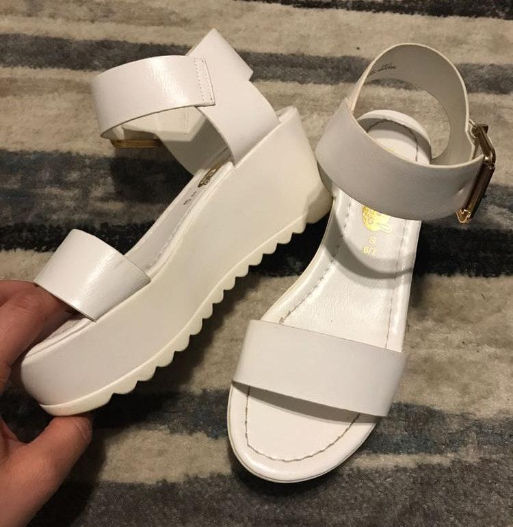 Rue 21 White Platform Heels