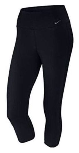 Nike Cropped Capri Leggings Black Dri Fit