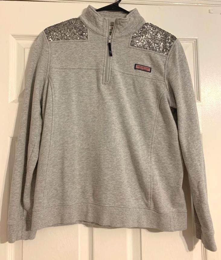 Vineyard Vines Sequin Grey Shep Shirt Size M